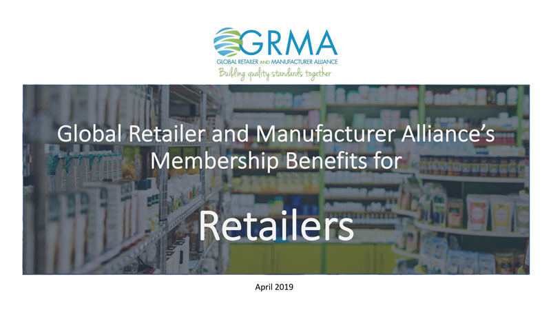 Retailers GMP Standards